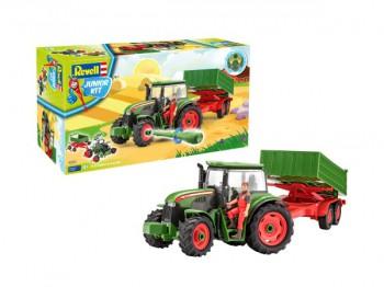 Traktor mit Anhänger u. Figur