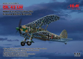 CR. 42 LW-WWII deutsche Luftwaffe Ground Attack Aircraft - 1:32