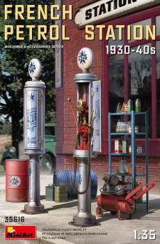 Französiche Tankstelle 1930-40S