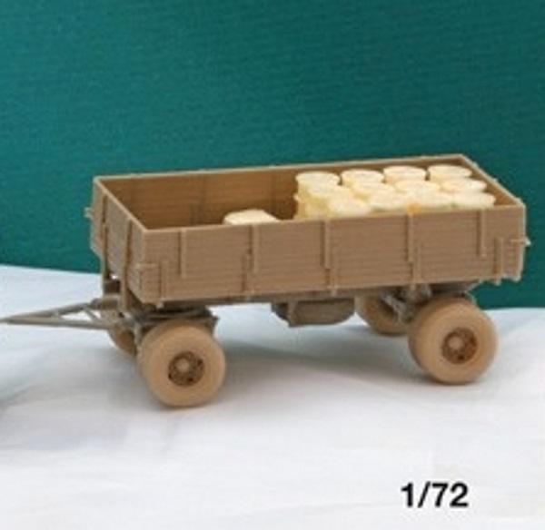 Anhänger mit Wassertank Deutscher 4,5to Bausatz 1:72