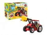 Traktor mit Frontlader und Figur