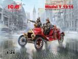 Model T 1914 Feuerwehr + Figuren 1:24