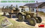 Lanz Bulldog D8506 mit Anhänger, 11 Figuren - 1:35