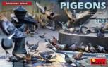 Pigeons / Tauben in 1:35 (36 Stck.)