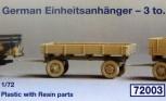 Deutscher Einheitsanhänger - 3,0To