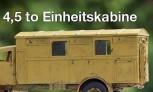 Umbausatz 4,5 to Einheitskabine: Mercedes, Büssing, MAN 1:72