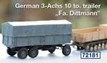 Deutsch. 10to 3Achs Anhänger