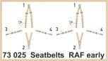 Sicherheitsgurte RAF früh - 1:72