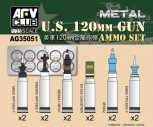 US 120mm Munitions Set 12Stck. 1:35
